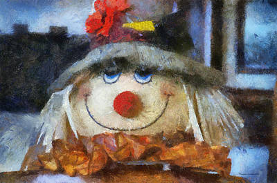 Halloween Scarecrow Pa 02 Print by Thomas Woolworth