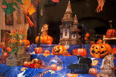 Toy Shop Photograph - Halloween Scary And Funny Pumpkins by Arletta Cwalina