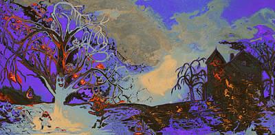 Moon Painting - Halloween Trip by Ken Figurski
