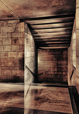 Capitol Building Digital Art - Halls Of Stone by Donald Schwartz