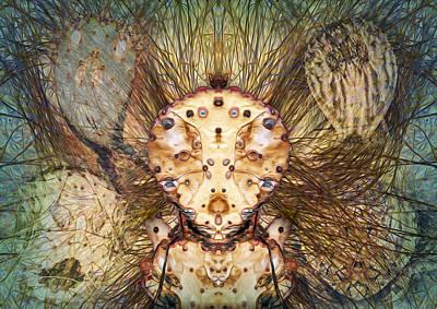 Hallucina-jim Print by Becky Titus