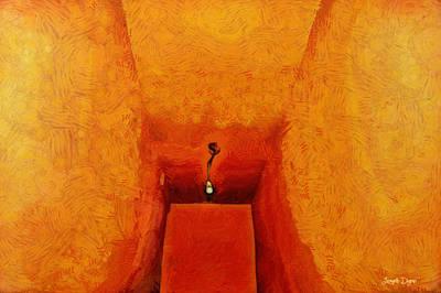 Wire Digital Art - Hallway - Da by Leonardo Digenio