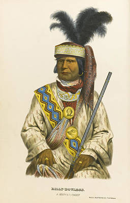 Drawing - Halpatter-micco Or Billy Bowlegs. A Seminole Chief by Charles Bird King