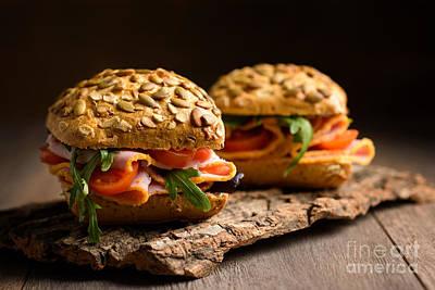 Granary Photograph - Ham Salad Rolls by Amanda And Christopher Elwell