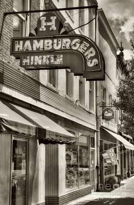 Hamburgers In Indiana Sepia Tone Print by Mel Steinhauer