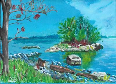 Lakefront Painting - Hamilton Inner Bay by David Bigelow