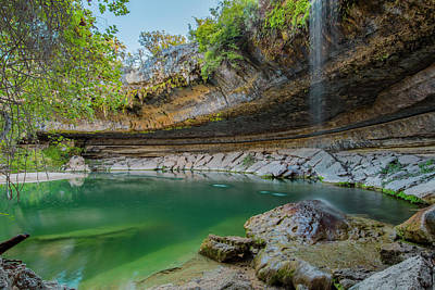 Hamilton Pool In The Texas Hill Country In October 1 Print by Rob Greebon