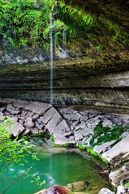 Hamilton Pool Print by Mark Weaver