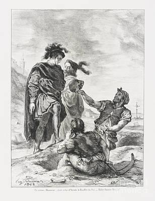 Hamlet Et Horatio Devant  Print by Eugene Delacroix