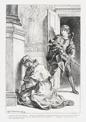 Hamlet Tente De Tuer  Print by Eugene Delacroix