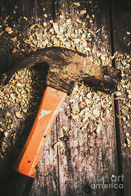 Chip Photograph - Hammer Details In Carpentry by Jorgo Photography - Wall Art Gallery