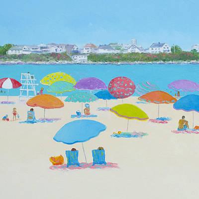 Hampton Beach Print by Jan Matson