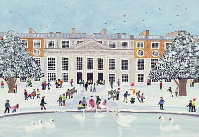 Hampton Court Palace   Fountain Gardens Print by Judy Joel