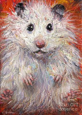 Hamster Painting  Original by Svetlana Novikova