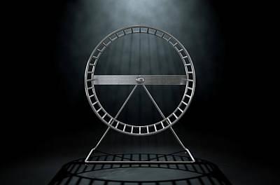 Hamster Wheel Empty Print by Allan Swart