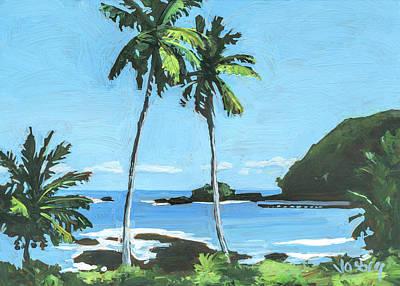 Haleiwa Painting - Hana Bay Maui by Stacy Vosberg