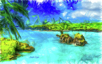 Oceans Painting - Hana Maui by Leonardo Digenio
