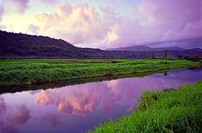 Purple Photograph - Hanalei Dawn by Kevin Smith