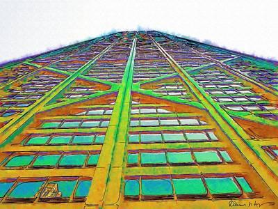 Hancock Building Digital Art - Hancock Chicago by Russ Harris