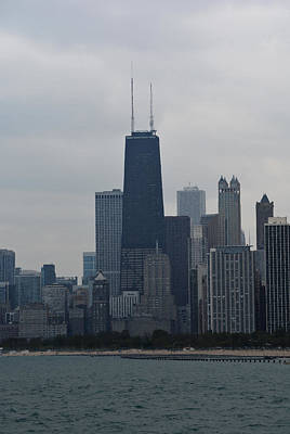 Hancock Building Digital Art - Hancock Tower And Chicago Skyline by Richard Andrews