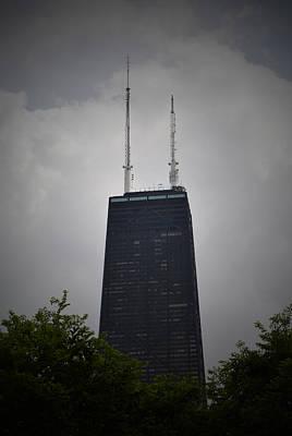Hancock Building Digital Art - Hancock Tower by Richard Andrews