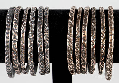 Hand Forged Copper Bangles Original by Melany Sarafis