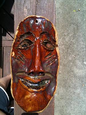 Hand Made Mask Print by Emily Osborne