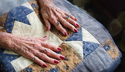 Homemade Quilts Digital Art - Hand Made Quilt by Debra Baldwin