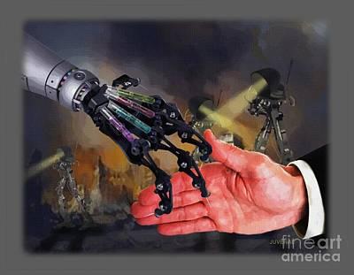 Hand Shake Deal Print by Joseph Juvenal