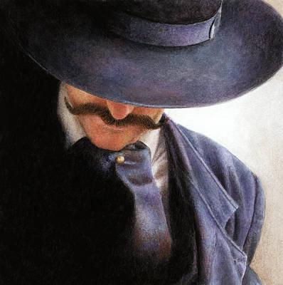 Cowboy Hat Painting - Handlebar by Pat Erickson