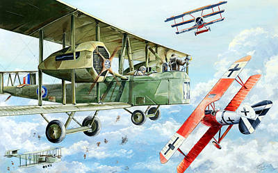Fighter Drawing - Handley Page 400 by Charles Taylor