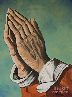 Hands In Prayer Original by Marta Robin Gaughen