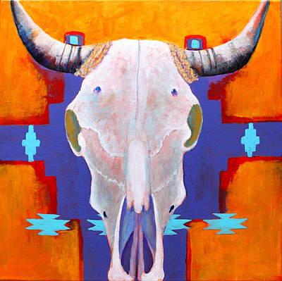 Steer Painting - Hanging Around by M Diane Bonaparte
