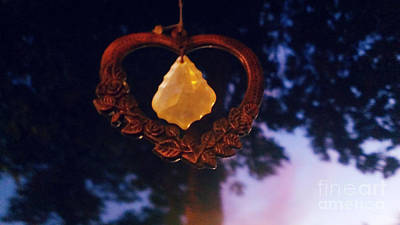 Wind Chimes Photograph - Hanging Heart by LKB Art and Photography