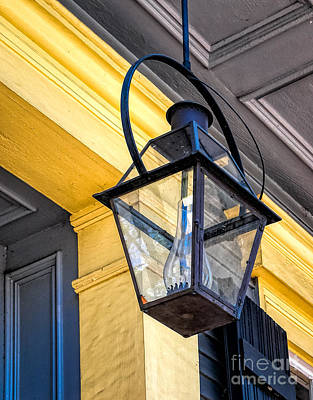 Hanging Lamp With Chimney - Nola Print by Kathleen K Parker