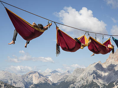 Dolomite Photograph - Hanging Out by Sebastian Wahlhuetter