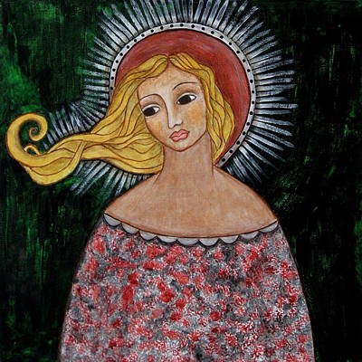 Christian Art . Devotional Art Painting - Haniel by Rain Ririn