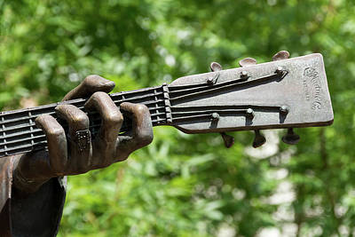 Hank Williams Hand And Guitar Print by Debra Martz