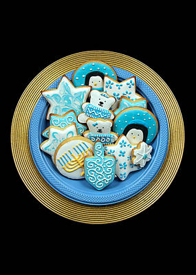 Hannukah Cookies Print by Ron Regalado
