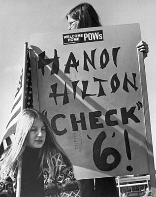 Hanoi Photograph - hanoi Hilton, Check 6 Sign by Underwood Archives
