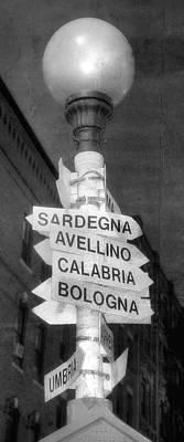 Hanover Street Italian Cities Sign - Boston North End Print by Joann Vitali