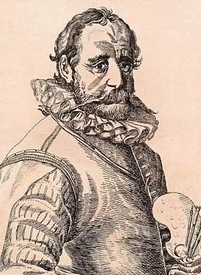 Flemish Drawing - Hans Bol 1534-1593 Flemish Artist From by Vintage Design Pics
