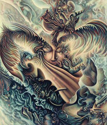 Liberation Painting - Hansa Swann by Nad Wolinska