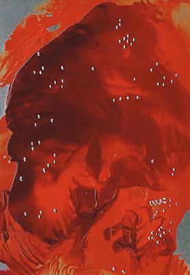 Encaustic Painting - Hanu Mann by Danita Cole