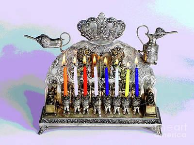 Hanukah Photograph - Hanukah Menorah Celebration by Larry Oskin