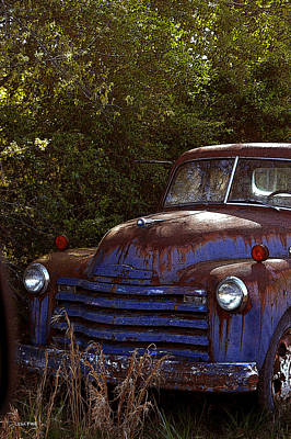 Vintage Truck Photograph - Happily Retired by Lesa Fine
