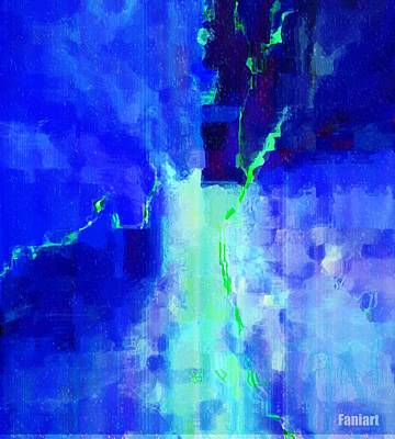 Mixed Media - Happy And Blue by Fania Simon