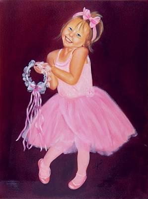 Happy Ballerina Print by Joni McPherson