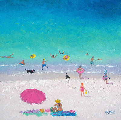 Beach Painting - Happy Beach Days by Jan Matson
