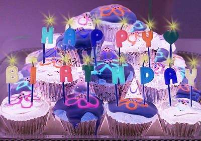 Cupcake Photograph - Happy Birthday by Holly Kempe